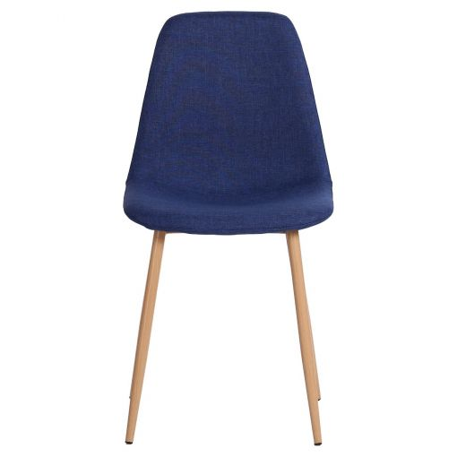 Zolfin Linen Fabric Dining Chair, Blue
