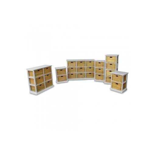 Hawaii Full Collection of the Wood & Wicker Storage Units