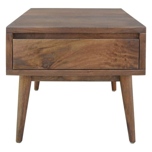 Start Solid Mango Wood Timber Side Table with Drawer